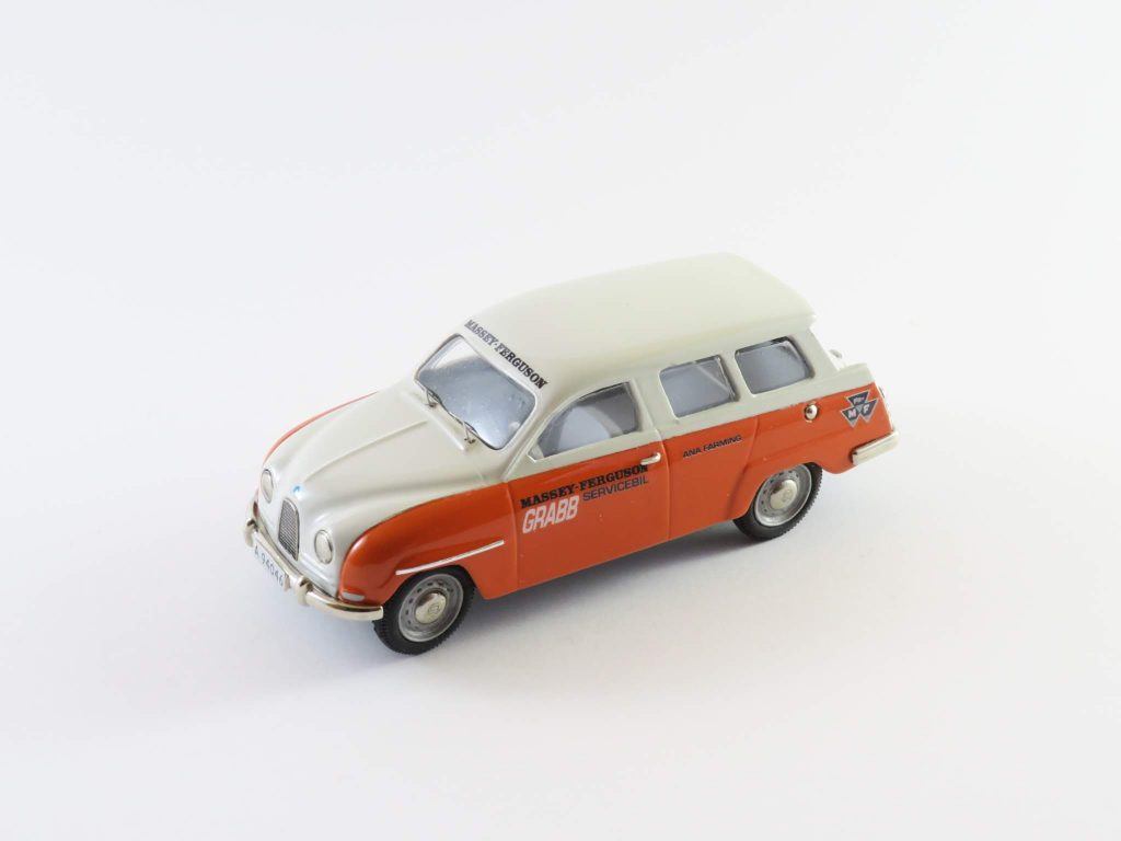 Saab 95 1960 two-stroke Massey Ferguson (orange/white) – Somerville