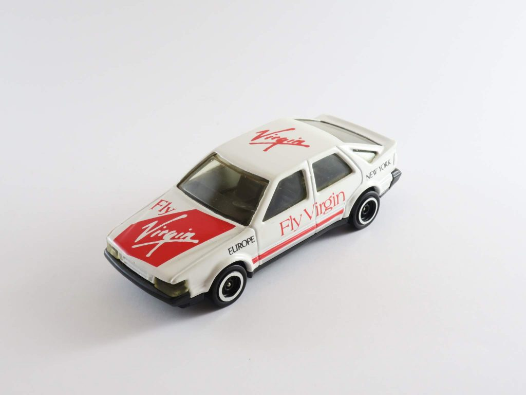 Saab 9000 1985 CC Turbo 16 Fly Virgin – Corgi Toys