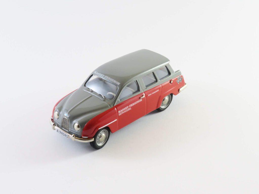 Saab 95 1960 two-stroke Massey Ferguson (red/grey) – Somerville